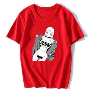 Anime Waifu Material T Shirt Men Novelty Funny Manga Ecchi Hentai Kawaii Weeaboo Japanese PORG Fashion Summer Otaku Shirt Y0408