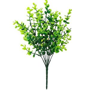 8Pcs Fake Grass Money Leaf Green Plants For Home Wedding Courtyard Indoor And Outdoor Decoration Decorative Flowers & Wreaths