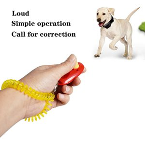 Pet Button Clicker Portable Pets Sound Trainer Aid Guide Dog Click Training Tool Wristband Accessory GWF8250