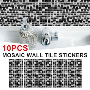 Mosaic Tile Stickers Self Adhesive Wall Tiles Home Decor Peel And Stick Backsplash For Kitchen Bathroom Wallpapers