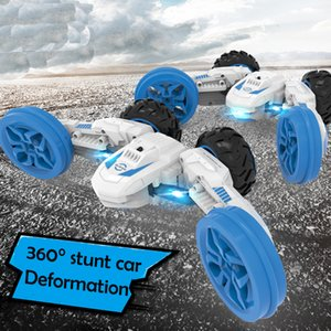 Creative RC Stunt Car Remote Control Toys deformation Stunt drift MKB 360 degree tumbling Toys 112 Off Road Super Car with LED