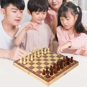 Jouets enfants Jouets magnétiques Ensemble d'échecs pliants en bois magnétiques Board de jeu felteté 29cm * 29cm Stockage intérieure adulte enfant cadeau cadeau famille