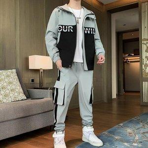 Men's Tracksuits Men Tracksuit 2021 Clothes 2 Pcs Set Jackets And Pants Man Hip Hop Streetwear Clothing Jogging Suit Sweatsuit