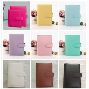 A6 Vacío Cuaderno Cuaderno Blocsepads 19 * 13 cm Cuadernos de hoja suelta sin papel PU Faux CUBIERTE CUBIERTA CUBIERTA FOLECTADOR CUADRADOR PLANADORES ESPURAL Libro de recuerdos