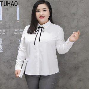 Autumn Winter 5XL 6XL 7XL 8XL Plus Size Women Blouses WHITE Tops Blouse Woman Shirts Elegante Blusas Top Shirt Women's &