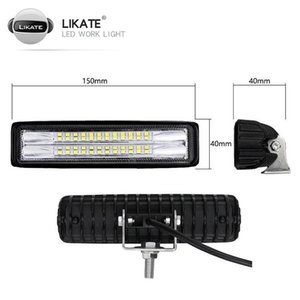 Çalışma Işık 72 W LED Kamyon Farları Faro Lamba Su Geçirmez Araba Far Sis 6500 K Spot IP67