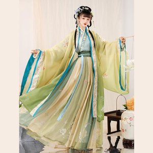 Stage Wear Women Hanfu Dresses Chinese Costume Ancient Tradition Dress Elegant Fantasia Adult Cosplay Carnival Party Outfit Performance
