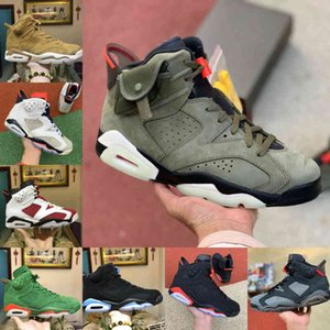 2021 New Travis Hare 6 Мужские Баскетбольные Обувь Скоттс Светоотражающие 6s Tinker Черный Инфракрасный Кармин Орегон Мужские Узлы Джинс Спортивные кроссовки