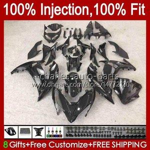 OEM Injection Mold Bodys For KAWASAKI NINJA 650R ER 6F 6 F ER6F 17 18 19 Bodywork 90HC.8 NINJA650R ER6 F Cowling black gloss ER-6F 2017 2018 2019 100% Fit Fairings Kit Factory