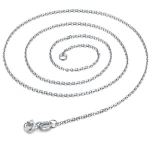 """20pcs Good Gift 925 Sterling Silver 1MM Flat Curb Chain Necklace Men's Necklace 16""""-30"""" fit pendant necklace 1143 Q2"""