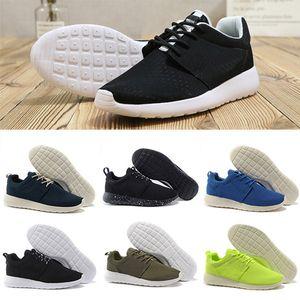 Nike roshe 1.0 3.0 running shoes hombres mujeres negro bajo Ligero y transpirable London Olympic Sports Sneakers para hombre Entrenadores tamaño 36-45