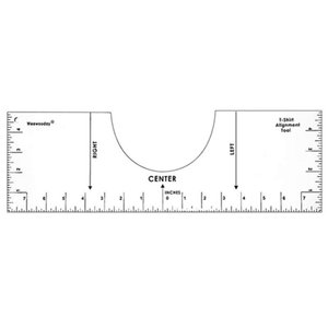 T-Shirt Ruler Guide Vinyl Sublimation Designs On Size Chart In Stock Sewing Notions & Tools