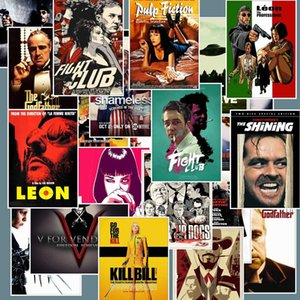 25pcs Lot Classic Movie Stickers for Luggage Laptop Art Painting Kill Bill Pulp Fiction Poster Waterproof Skateboard Motorcycle DIY Sticker