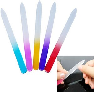 100X 9*0.35cm Glass Nail Files Durable Crystal File Buffer Nail Art Buffer Files For Manicure UV Polish Tool Nail Art AHB6090