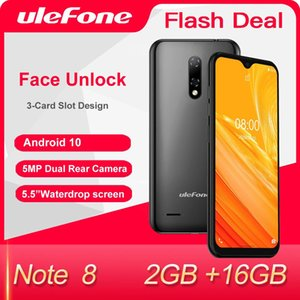 Ulefone Note 8 Android 10 Smartphone 2GB+16GB Waterdrop Screen Quad Core 5.5-inch Face Recognition 5MP Camera