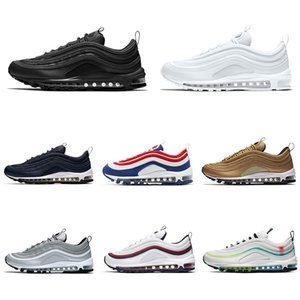 97 MSCHF x INRI Jesus running shoes men women 97s Sean Wotherspoon Reflective Bred Red Leopard triple black sports sneakers 36-45