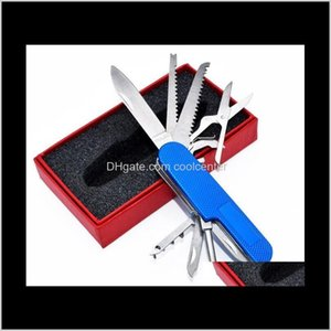 011121 Outdoor Multi-Purpose Tool Swiss Army Knife 11 Portable Piece 9Bzq3 Zdfov