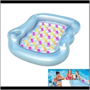 Floats Tubes Double Designer Lounge Inflatable Air Cushion Thickening Novelty Swimming Pool Float Rafts Pvc Floating Bed 1E4Es Ujxms