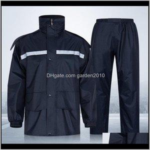 Raincoats Housekeeping Organization Home & Garden Drop Delivery 2021 Raincoat Pants Fashion Breathable Men Women Coat Outdoor Waterproof Rain