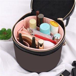 Cosmetic Bags & Cases Simple Style Ladies Bucket Bag Felt Liner Purse Handbag Storage Fashion For Women Girls