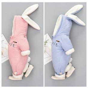 Cute Bunny Fleece Velvet Infant Clothing Winter Baby Girls Boys Rompers Warm New Born Baby Newborn Clothes Snow Jumpsuit 273 Z2
