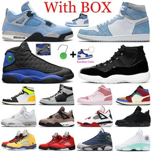 Neue Jumpman Herren Basketballschuhe 1s University Blue 11s Concord 12s Hyper Royal 13s Fire Red 4s 5s Damen Herren Trainer Sports Sneakers
