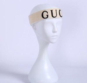 2021 Fashion Brand Sports Headband Female Letter Printing Hair Scarf Running Yoga Headwear for Women Men