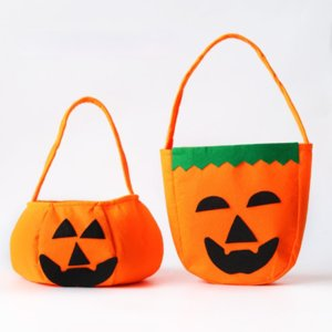 Halloween pumpkin bag portable three-dimensional non-woven candy storage bag Halloween product makeup costume props