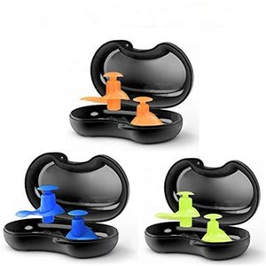 1 Pair Diving Water Sports Swimming Accessories With Collection Box Soft Waterproof Earplugs Dust-Proof Ear Silicone Sport Plugs 1057 Z2