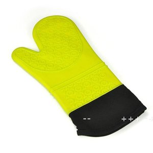 Silicone Oven Mitt Extra Long Oven Mitt Professional Mitts 1 Pair Oven with Quilted Liner high quality 5 colors EWA8792