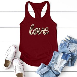 Sexy Women Camis Leopard Love Printing Tanks Tops Summer Casual Tank Plus Size Sleeveless Top Mujer