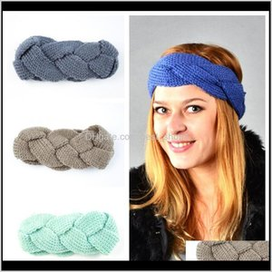 Ins 24 Colors Woman Elastic Knitted Headband Crochet Twist Headwear Turban Winter Ear Warmer Head Wrap Hair Accessories Xxgjc Fq9F3