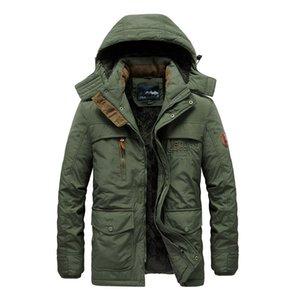 Роскошный бренд мужской пуховик мужской пуховики 2021 мужская зимняя длинная куртка Parkas повседневная стройная утолщенная флис теплый открытый ветрозащитный военный