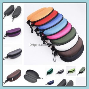 Cases Bags Eyewear & Aessories Fashion Aessories 14 Colors Sunglasses Case Glasses Bag Eyeglasses Carry Box Sunglass Portable Zipper Hook Ha