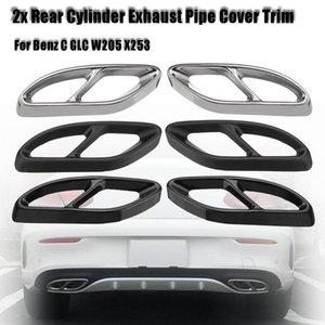 Уплотнительные детали углерода черный автомобиль задний двойной выхлопной трубы палочки капельницы автоматического глушителя для C GLC W205 x253 2021