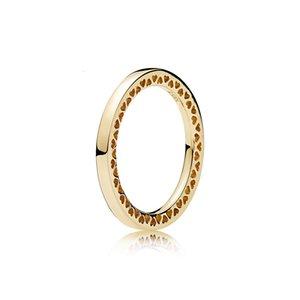 925 스털링 실버 빛나는 하트 로즈 골드 링 Pandora 쥬얼리 골드 여성용 최선의 선물