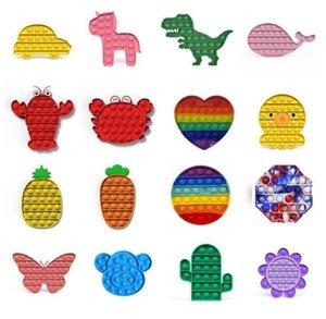Tiktok التعادل صبغ دفع البوب تململ لعبة rainbow فقاعة الحسية التوحد الخاصة احتياجات الإجهاد المخلص انها الضغط الحسي لعبة للأطفال عائلة dhl الشحن السريع