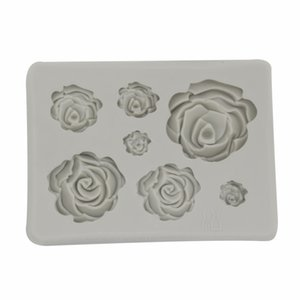 DIY Handmade Soap Chocolate Mold Silicone 3D Rose Flowers Shape Baking Moulds Cake Decoration Molds 2 Pure Colors 1 98ty E1 2HUR