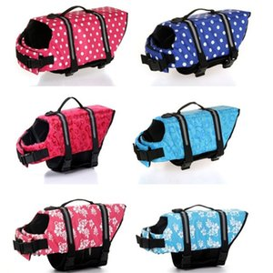 New Design Pet Dog Save Life Jacket Safety Clothes Life Vest Outward Saver Swimming Preserver Dog Clothes Swimwear 524 X2