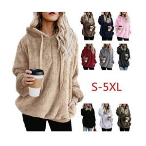 10Colour S-5XL Womens Ladies Warm Teddy Bear Fleece Hoodie Jumper Hooded Pullover Sweatshirt coat TOP 26576192849225