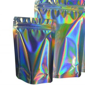 Resealable Smell Proof Bags Foil Pouch Hologram Bag Reclosable Pouches for Food Storage In Stock 462 R2