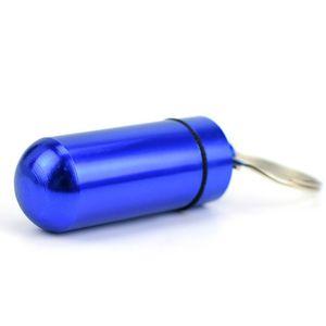 حامل مفتاح الألومنيوم مقاوم للماء حبة مربع زجاجة حامل الحاويات المفاتيح مفتاح سلسلة حبة مربع جرة تخزين 48 ملليمتر * 17 ملليمتر ستاس ood5897