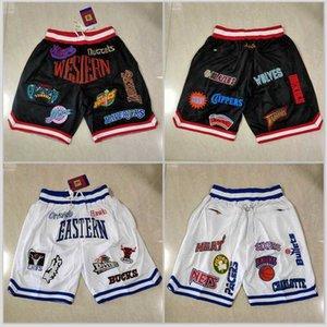 Shorts Men's All Team Basketball Short Just Don eastern Sport Hip Pop Pant With Star Pocket Zipper Sweatpants Mens Stitched Short Pants