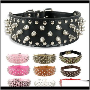 Soft Spiked Studded Pu Leather Dog Collar For Pitbull Boxerbully Xs S M L Xldot Collars & Leashes Tdjn8 U4V7G