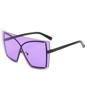 2021 Oversized Sunglass Women Luxury Vintage Sun Glass Female Tricolor Big Frame Retro Eyewear Shad for Lady