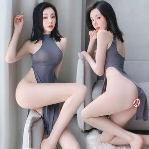 Underwear Sexy Female Transparent Cheongsam Uniform Temptation Ancient Brothel Super Sao Passion Role Play Blood Drop