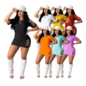 Fashion Summer Womens Robes One Piece Robe S-4XL Manchon Short Skirt Designer Mini-genou Haute Qualité Casual Sexy Sexy Sexy Luxe Femmes Vêtements KLW6399