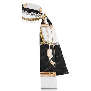 2021 Ipek Eşarp Çanta Kadın Çanta Mektup Çiçek Scraves Üst Sınıf Kafa Saç 3 Renkler 18917 8x120 cm # VSJ-01