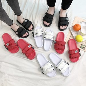 2021 summer net celebrity beach sandals slippers female couple casual trendy thick bottom outer wear fashion students