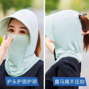 Шляпы Sunshade, солнцезащитный крем, женское москитное доказательство, лицо покрытия лица, выбор чая, езда большие краевые ледяные маски, солнечная шляпа, ультрафиолето